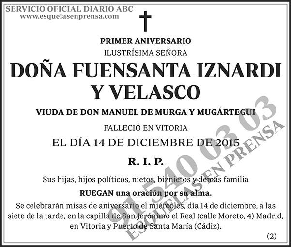 Fuensanta Iznardi y Velasco
